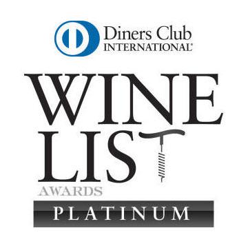 Wine List Awards Platinum | Signature Restaurant