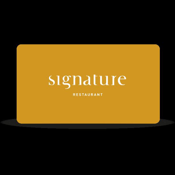 Signature - Gift Card